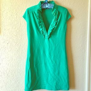 Lily Pulitzer Green Polo Button Up Tennis Dress S